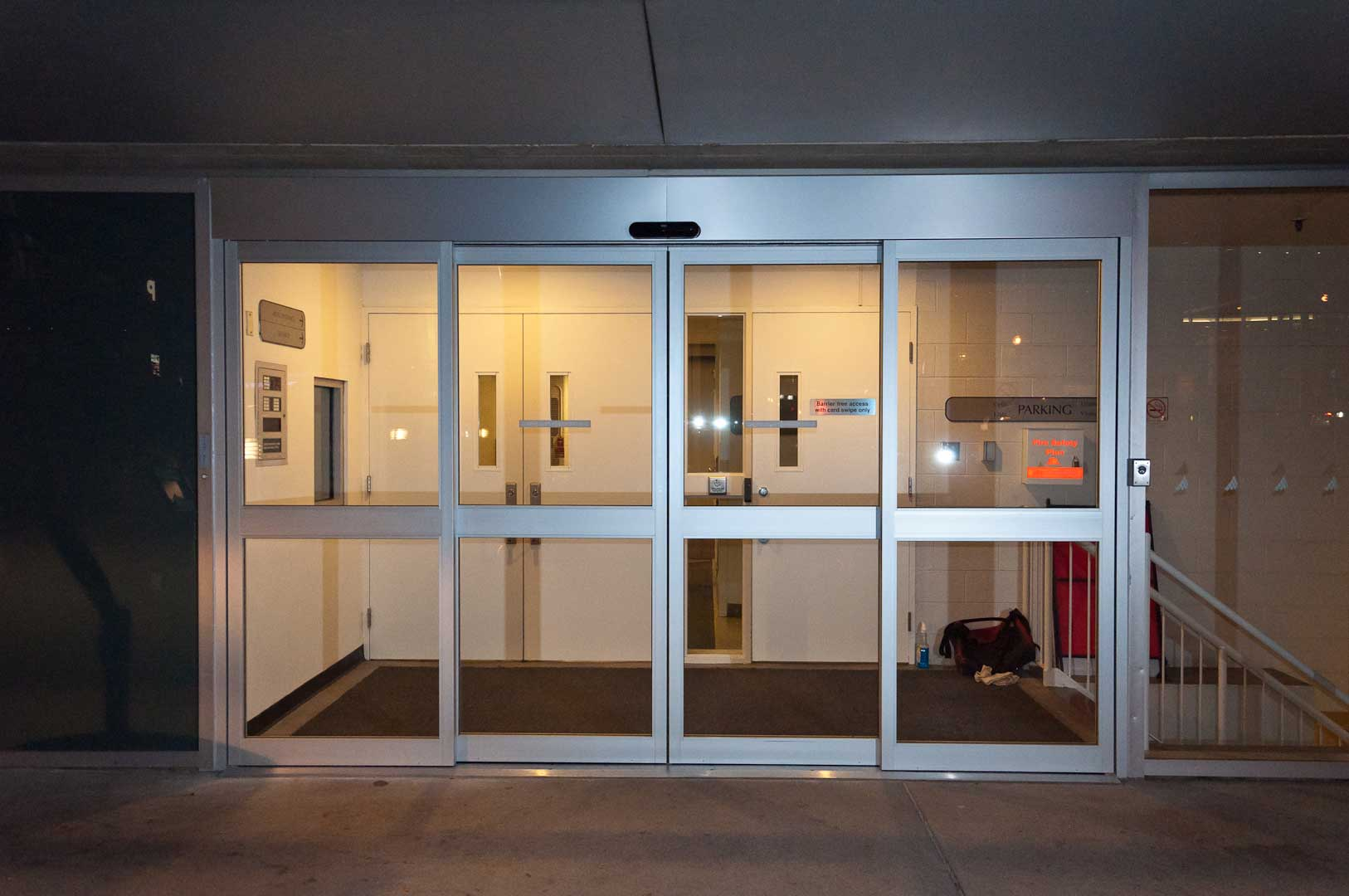 Musician's entrance sliding glass doors installed in Toronto by Explore1.ca