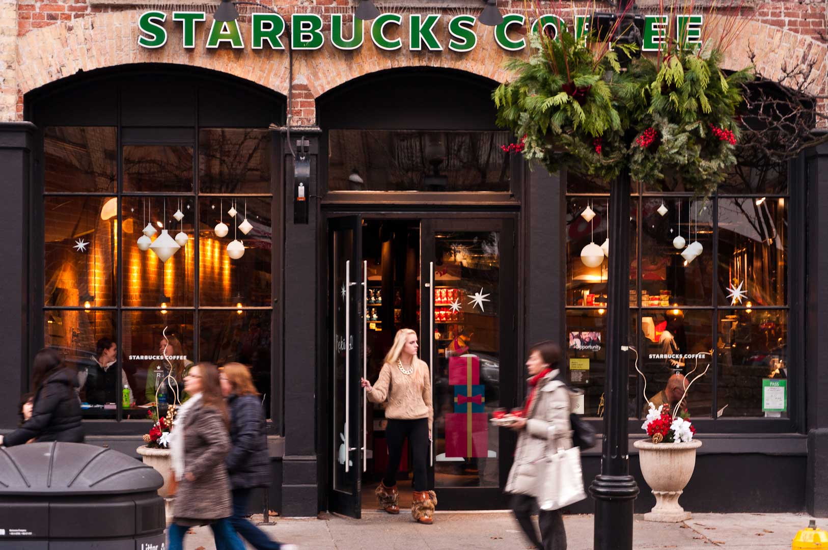 Starbucks Storefront With Integrated Automatic Door Opener by Explore1.ca Toronto