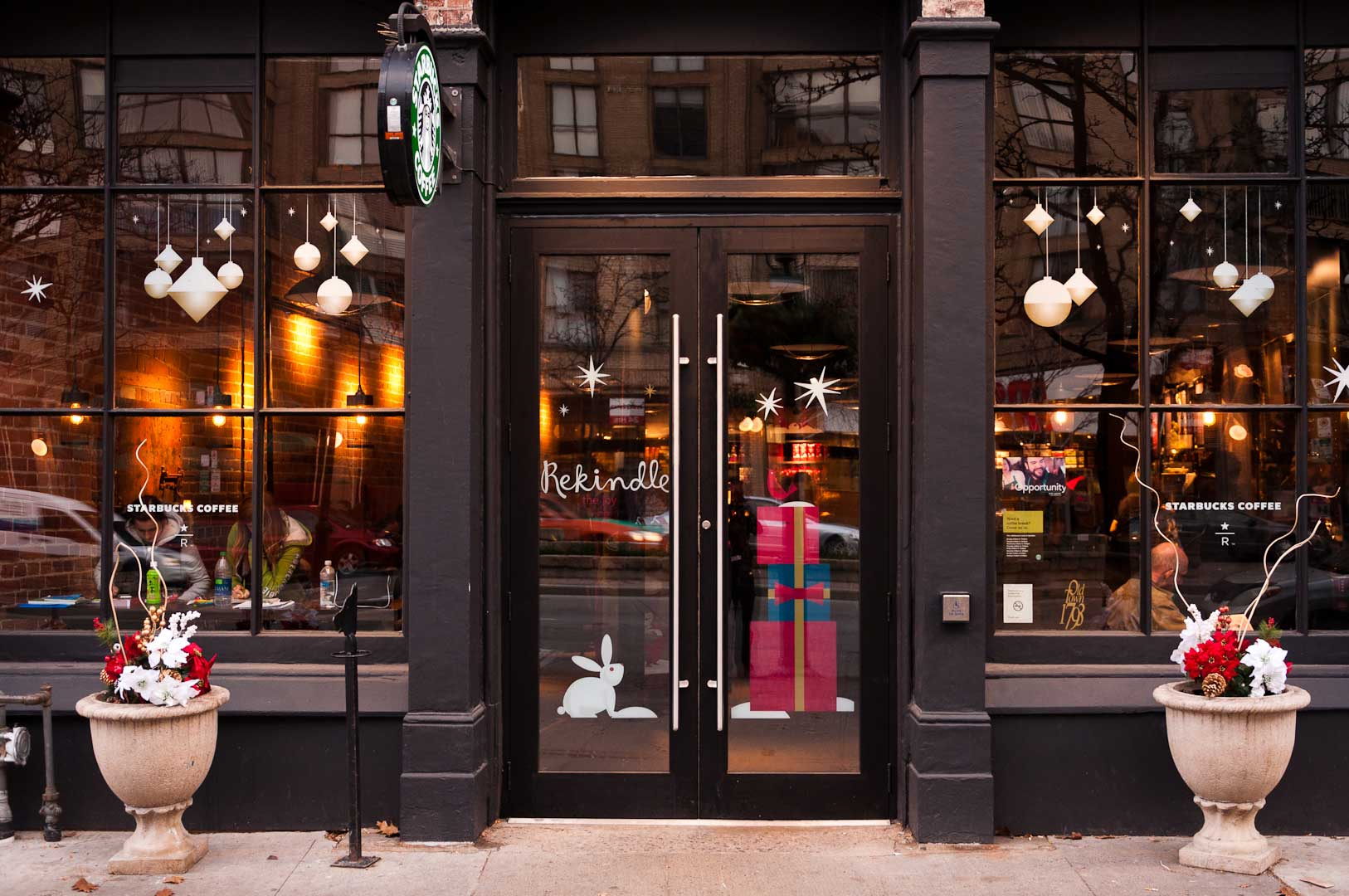 Starbucks Storefront With Automatic Door Opener by Explore1.ca Toronto