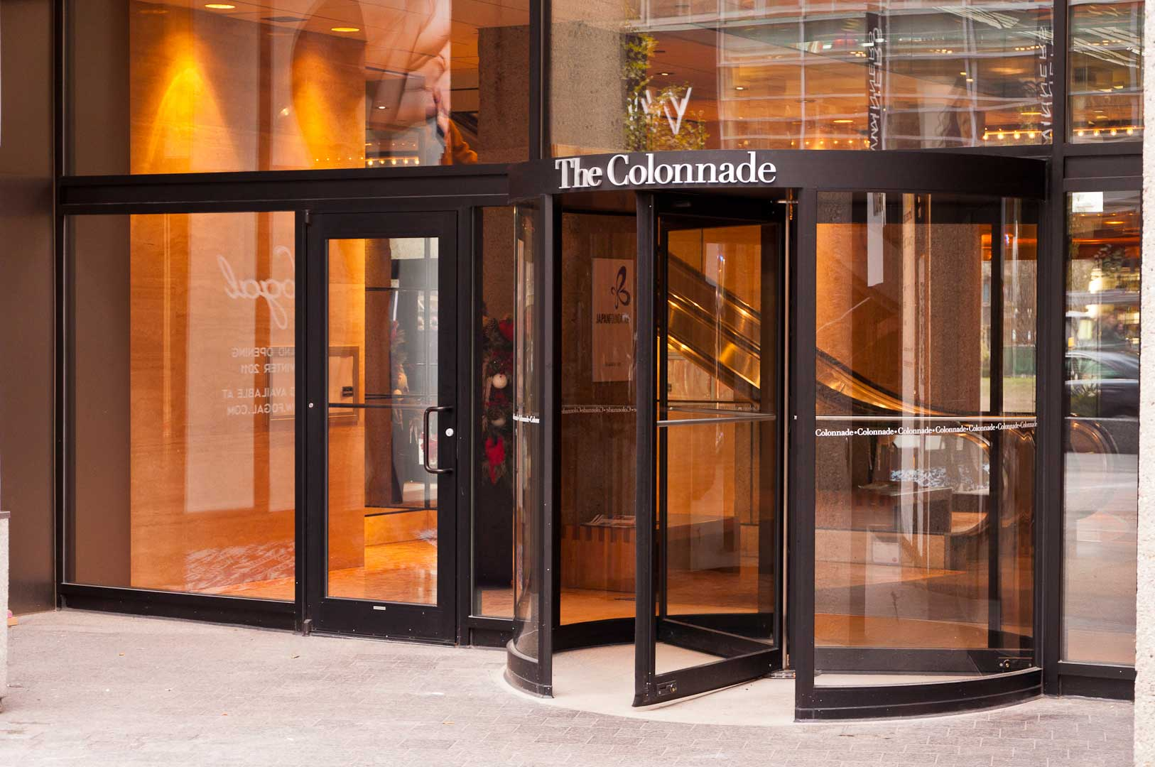 Right Exterior 131 Bloor St Revolving Door Entrance Maintained by Explore1