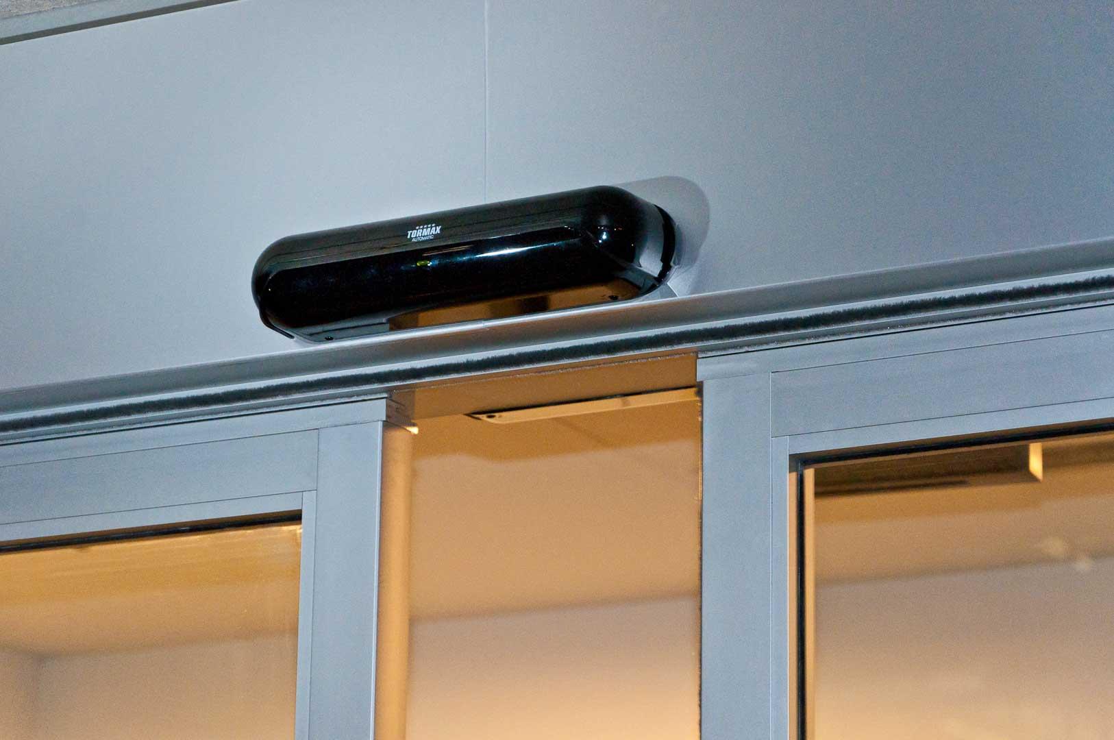 Tormax Automatic Door Sensor mounted above a TX9300