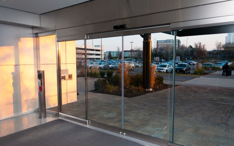 Interior Tormax TX9500 Glass Doors Installed by Explore1.ca in Toronto