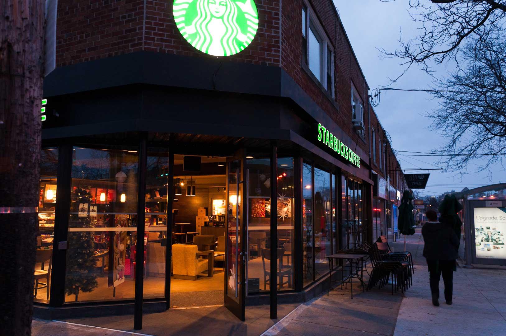 Explore1.ca Installed Automatic Door Opener for Starbucks Toronto Queen Street