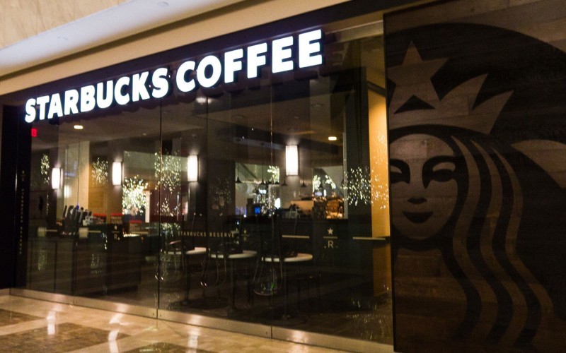 First Canadian Place Starbucks Glass Store Facade installed by Explore1.ca Starbucks Logo
